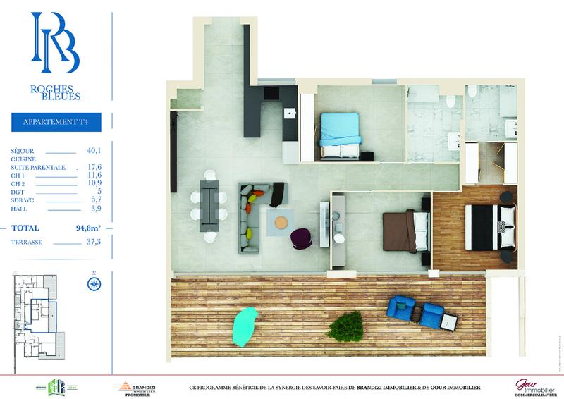 Appartement, 94,8 m² Appar…