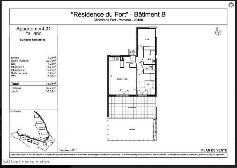 Appartement, 72 m² L'équ…