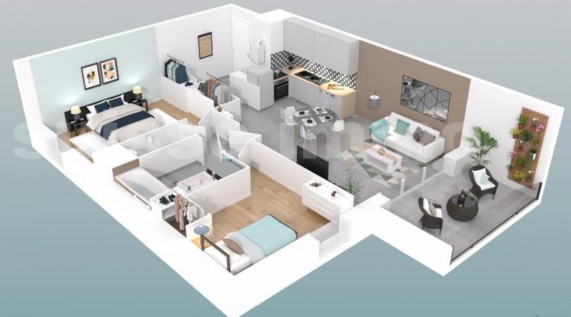 Appartement, 62 m² Ref 1…