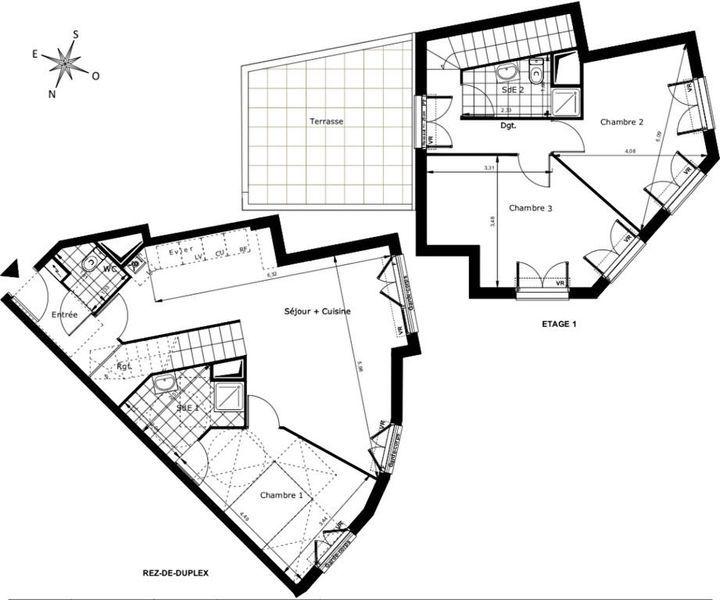 Appartement, 96 m² Pas d…