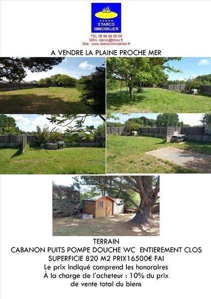 Terrain, 820 m² Terra…