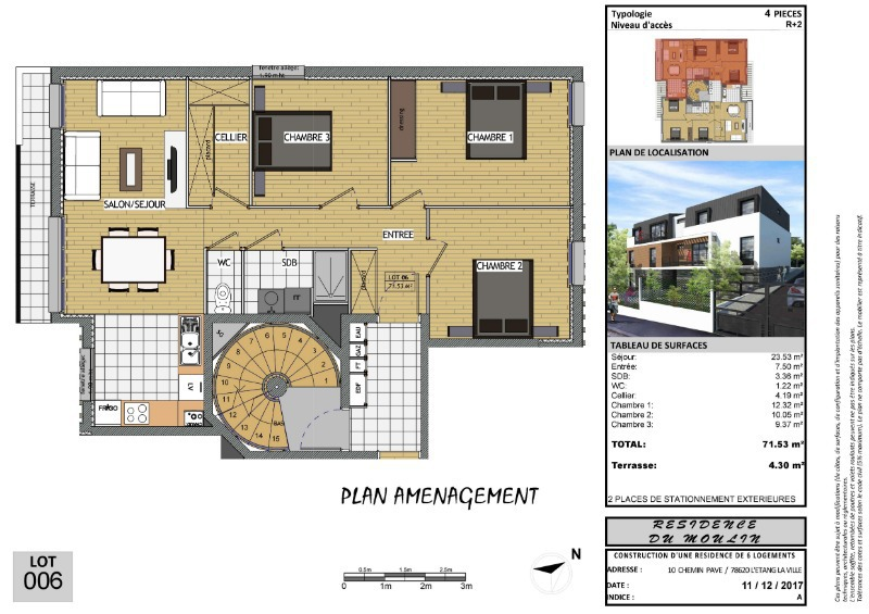 Appartement, 71 m² EXCEP…