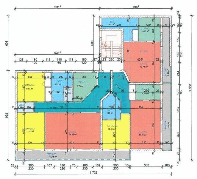 Appartement, 46,3 m² Situé…