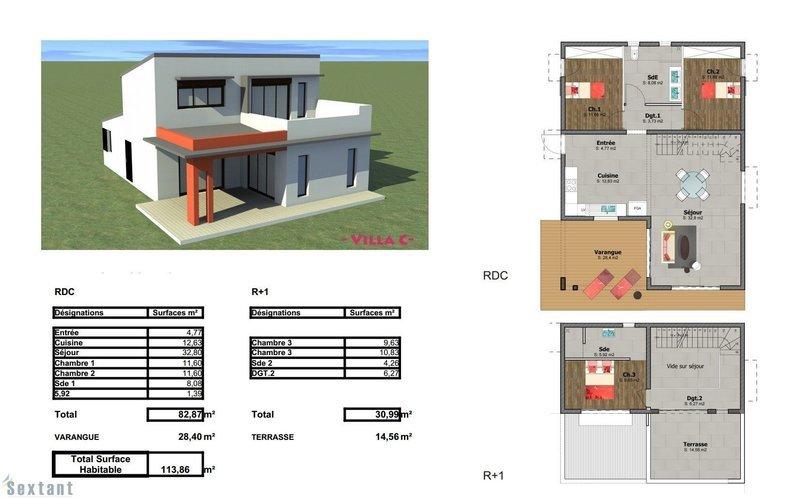 Maison, 103 m² Proje…