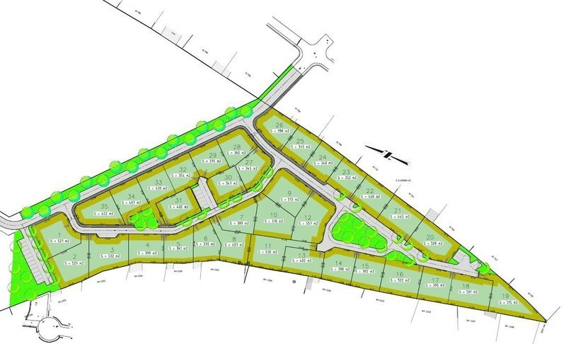 Terrain, 514 m² Empla…