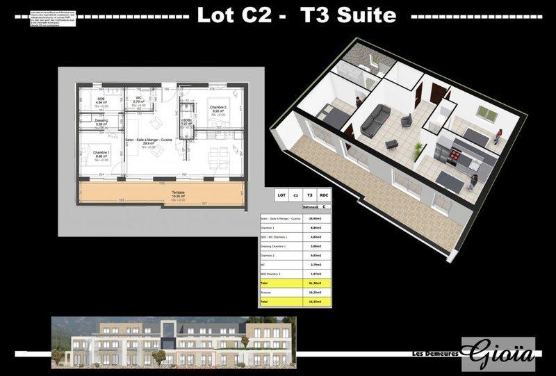 Appartement, 61 m² Luxue…