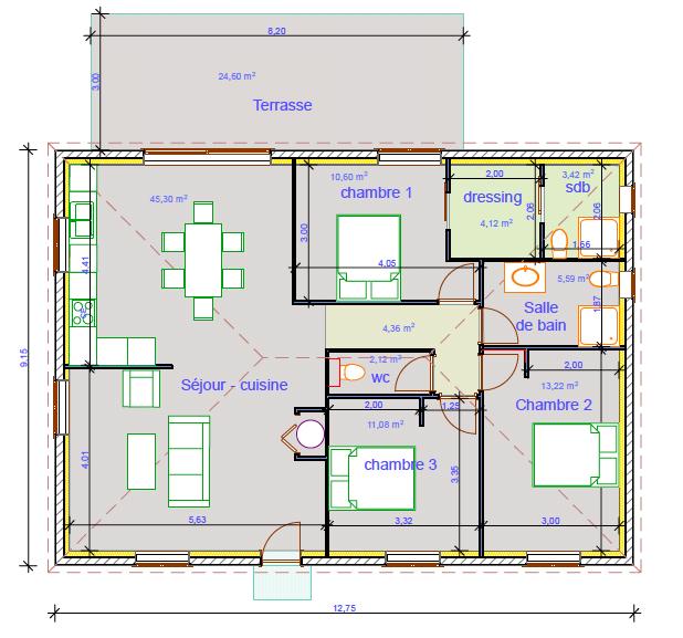 Maison, 100 m² 20221…