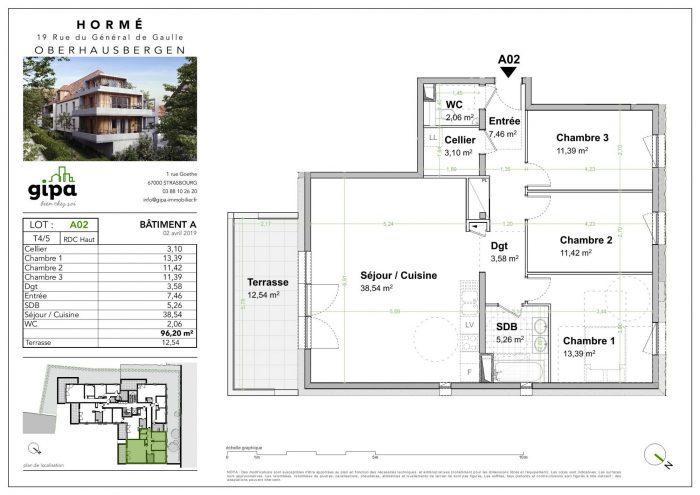 Appartement, 96 m² Sous …