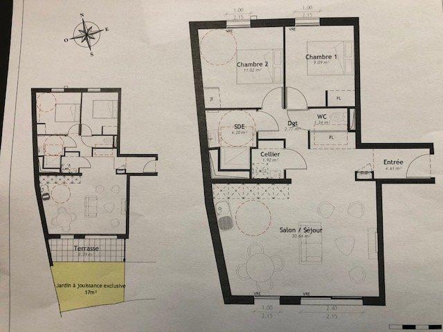Appartement, 65,58 m² Sur l…