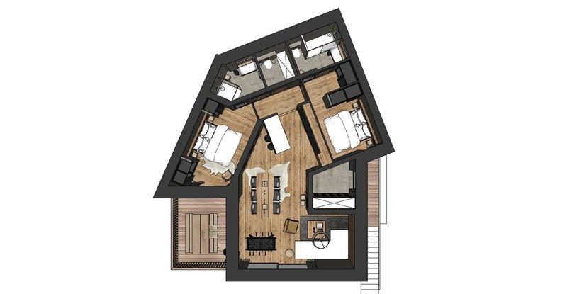 Appartement, 85,7 m² Chale…