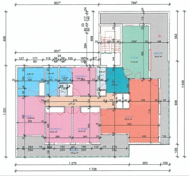Appartement, 137,4 m² Situé…