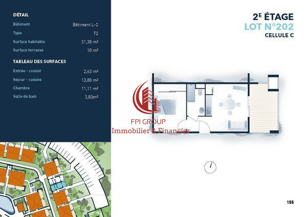 Appartement, 31 m² 20230…
