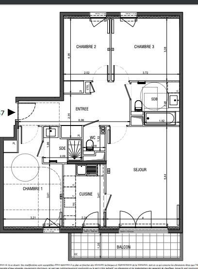 Appartement, 87 m² Au se…