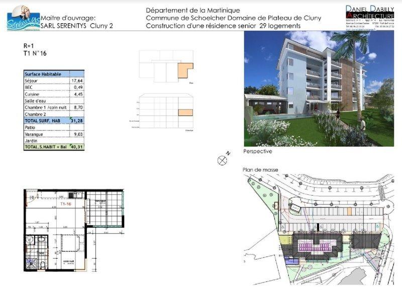 Appartement, 40 m² Appar…