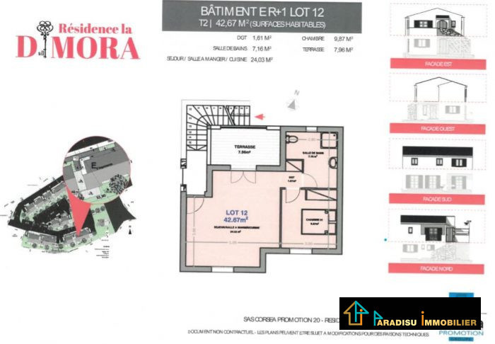Appartement, 43 m² A VEN…