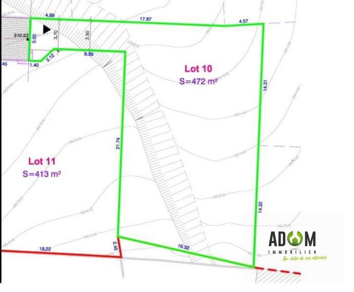 Terrain, 443 m² ADOM …