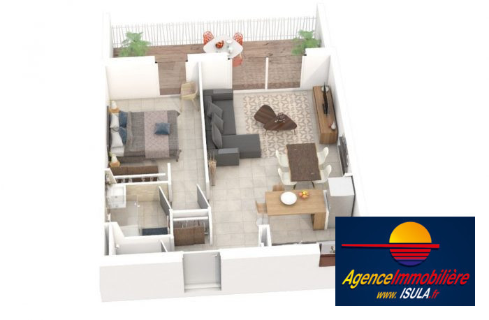 Appartement, 44 m² Porto…