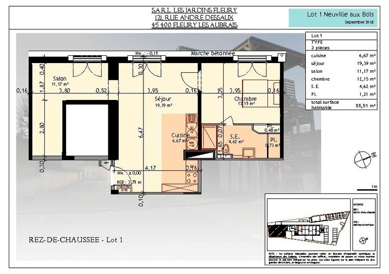 Appartement, 55,51 m² LEX I…