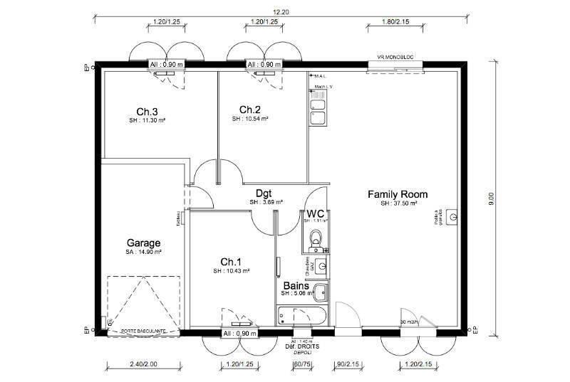 Maison neuve, 80 m² Derni…