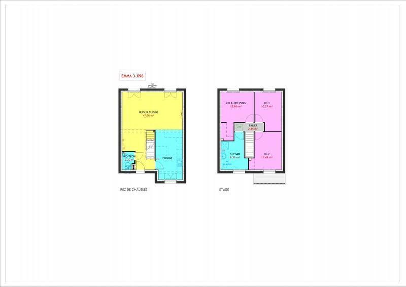 Maison neuve, 96 m² Ville…