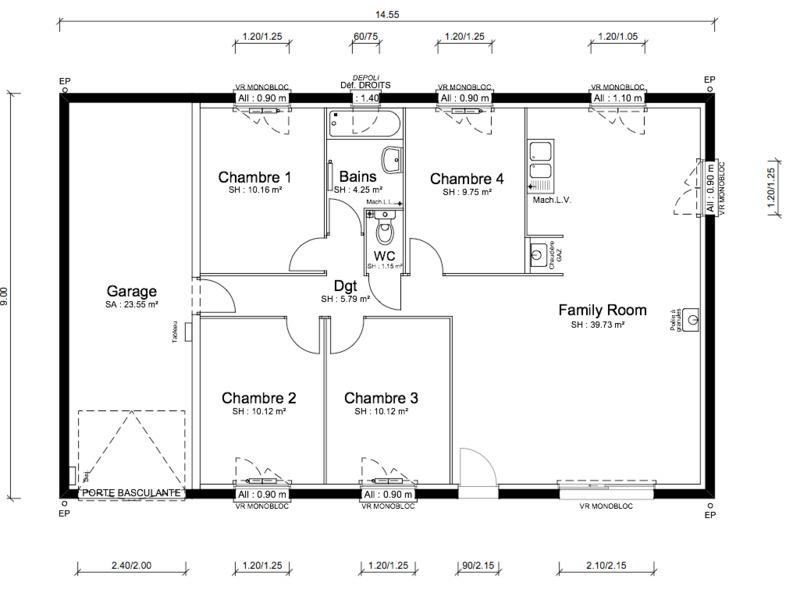 Maison neuve, 91 m² Offre…