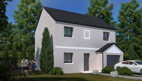 Maison neuve, 85,58 m² Beau …